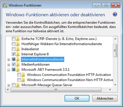 Windows-Funktionen