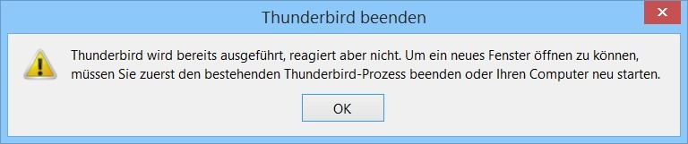 Thunderbird Update Probleme