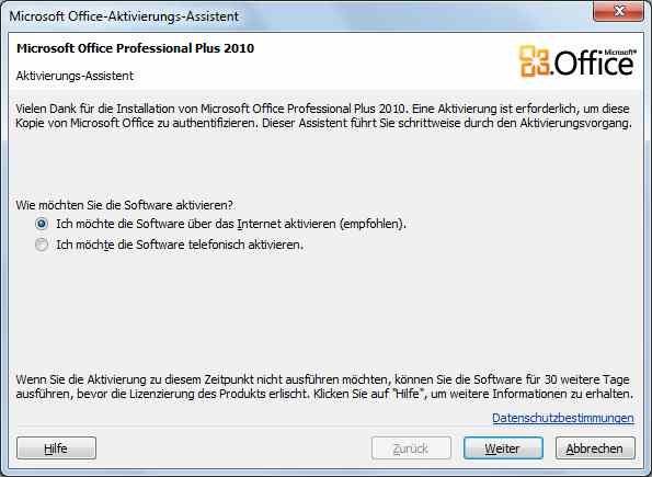 microsoft office 2010 60 tage testversion