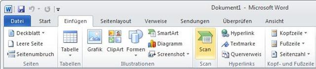 Scannen Unter Word 20072010 Borns It Und Windows Blog