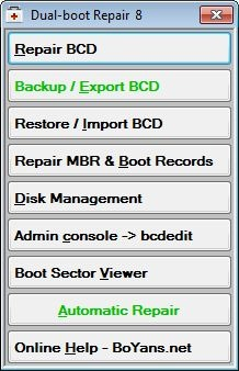 Reparaturtool für Windows DualBoot-Konfigurierung   Borns IT