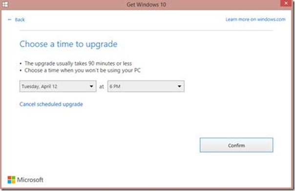 Windows 10 Update planen