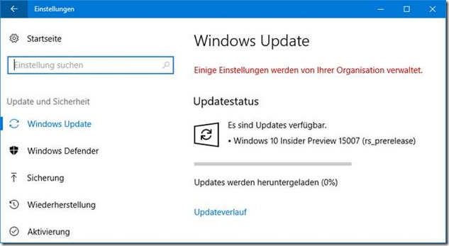 Win10 Preview Build 15007