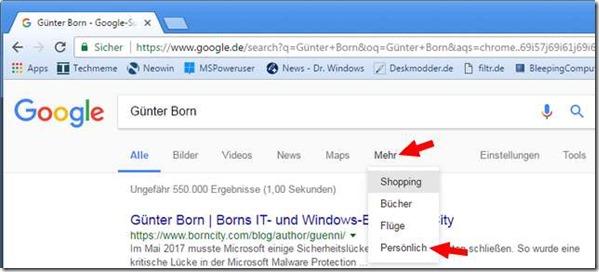 Google-Personal-Suche