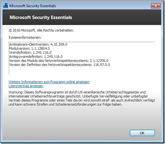 Microsoft Malware Protection Engine - Version 1.1.13805.0