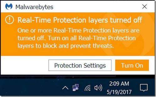 Malwarebytes V 3.1.2 Problem